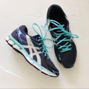 ASICS GT 2000 blue running shoes purple